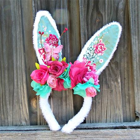 Diy bunny ears for spring from mane n tail flower power pronofoot35fo Images