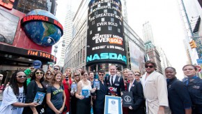Mane 'n Tail at NASDAQ with Morgan Spurlock