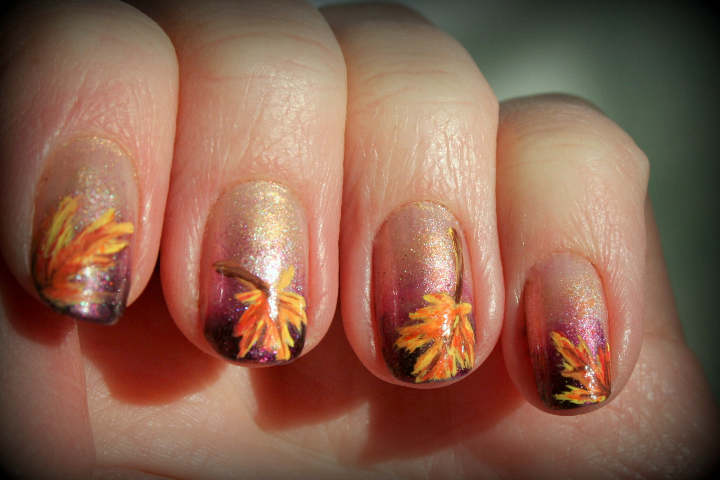 Festive Thanksgiving Nail Designs The Original Mane N Tail
