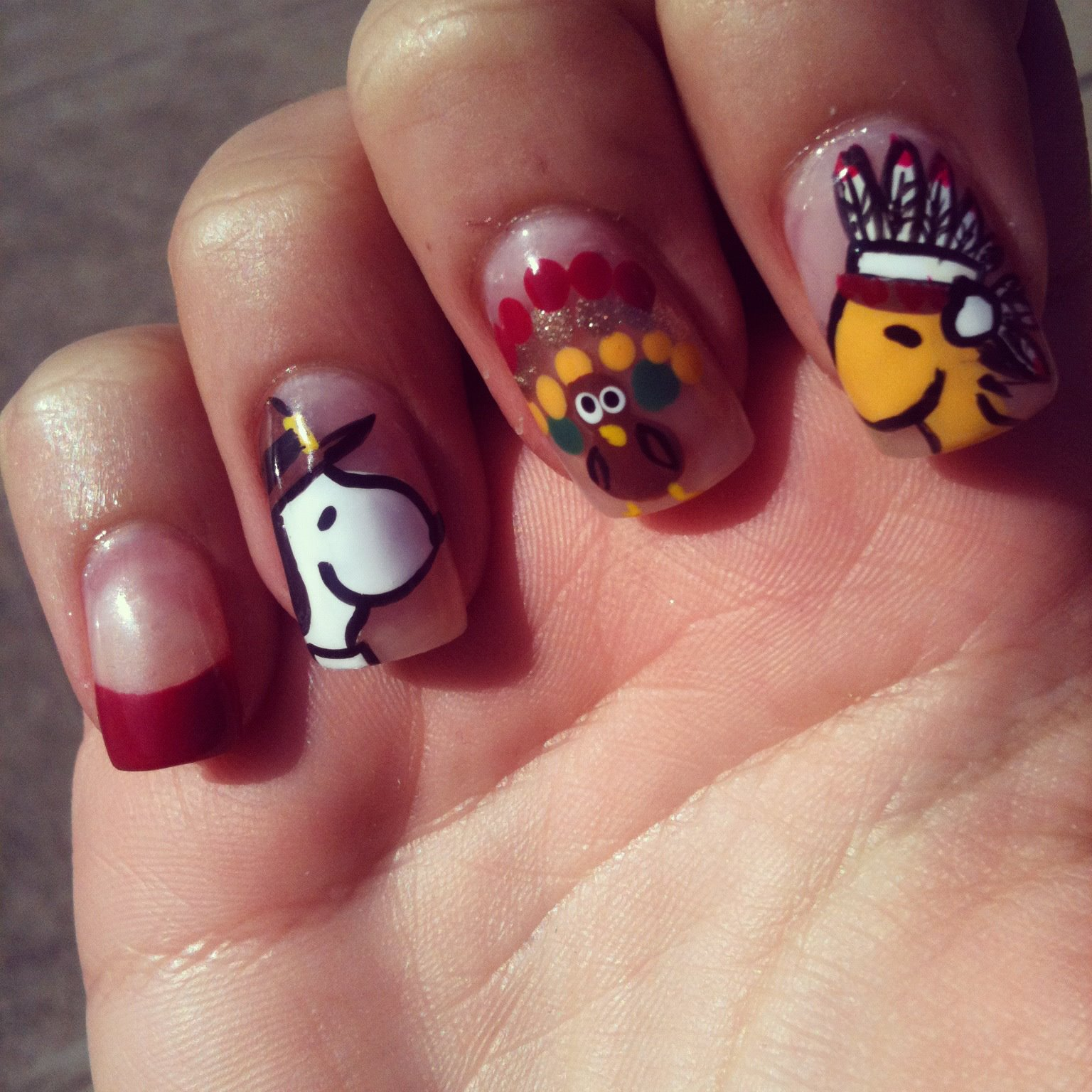 Festive thanksgiving nail designs the original mane n tail peanutsrandomenthusiast prinsesfo Image collections