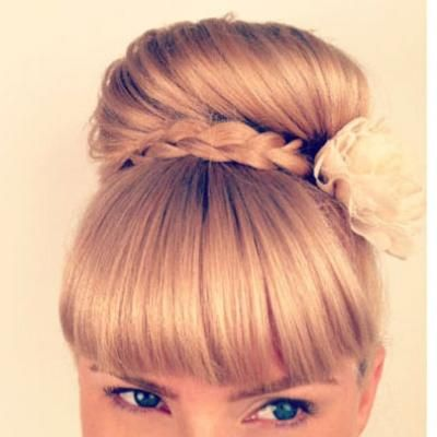 Wrap-around braid bun