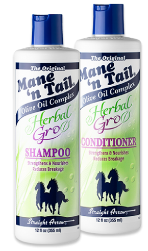 mane 'n tail herbal gro shampoo and conditioner bottles