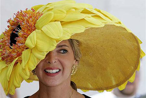 db2c37bde7b Who needs a few flowers as part of your hat when you can can have a giant  flower AS your hat! We just love this bold and bright statement!
