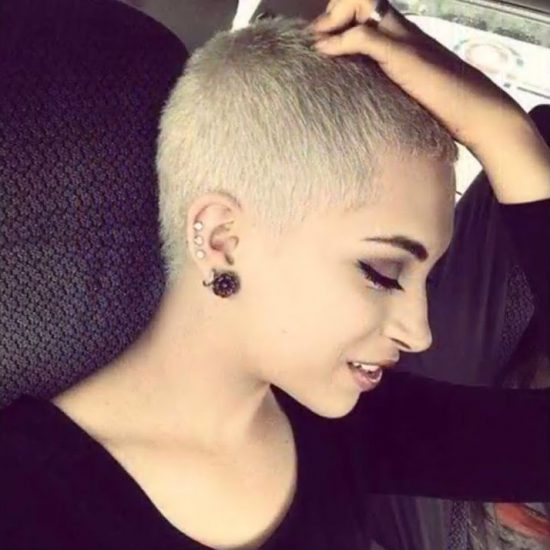 Short haircuts - blond crop