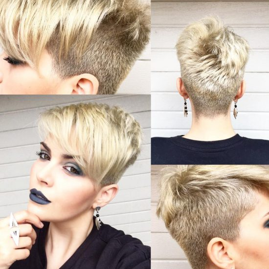Short haircuts - buzzed with top effects