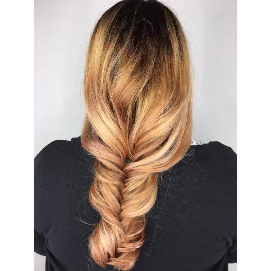 Summer and Autumn hair - dark root