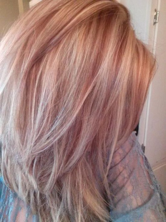Summer and Autumn hair - platinum and rose