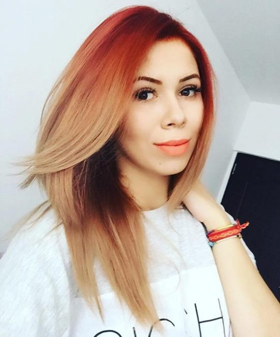 Summer and Autumn hair - contrast