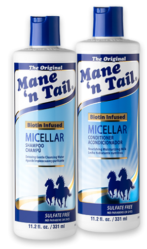 mane 'n tail micellar shampoo and conditioner bottles